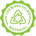 packaging, recycled, recycle, label, eco, material icon