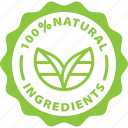 badge, green, ingredients, label, natural, nature, tag icon