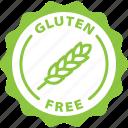 gluten free, label, celiac, sticker, tag icon