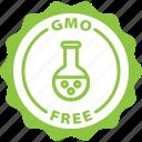 gmo free, label, food label, sticker icon