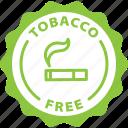 free, label, nicotine, smoker, smoking, tag, tobacco icon