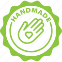 handmade, label, handcrafted, tag icon