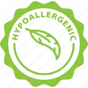 hypoallergenic, label, allergy, tag icon