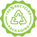 badge, green, label, packaging, recycle, recycled, tag icon