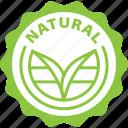 label, natural, tag, bio icon