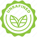 food, gren, healthy, label, natural, unrafined icon