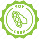 food allergy, food label, label, soy free, tag icon