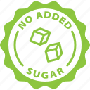 diet, food, label, natural, no added sugar, sugar free, unsweetened icon