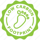 badge, carbon, footprint, label, tag icon