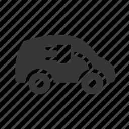 eco friendly, electric car, environment, environmental, green, green car, green energy, raw, simple icon