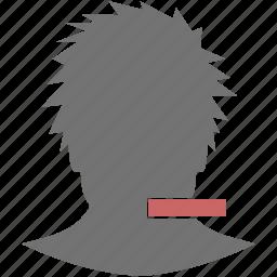 cancel, colse, delete, head, minus, remove, user icon