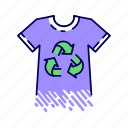 biodegradable, clothes, eco, material, organic, recycling, textile icon