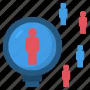 analysis, census, research, sampling, survey icon