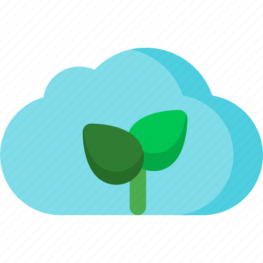cloud, cloudy, flower, forecast, nature, plant, weather icon