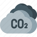co2, eco, ecology, emission, environment, pollution, waste icon