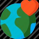 earth, flag, globe, like, love, nation, world icon