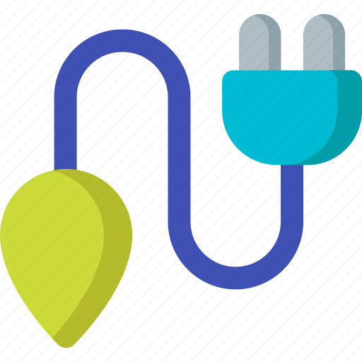 cable, charge, electric, electricity, lamp, plug, power icon