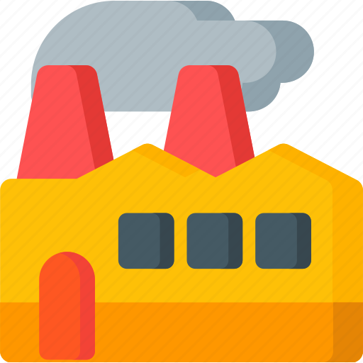 building, construction, factory, industrial, industry, manufacturing, pollution icon