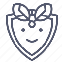 green, leaf, protection, save, shield icon