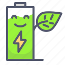 battery, charge, energy, green, recharge icon