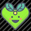 bio, eco, heart, leafs, love icon