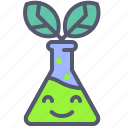 chemical, green, medical, potion, science icon