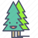 christmas, forest, trees, winter