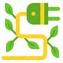 ecology, electricity, energy, green, plug icon