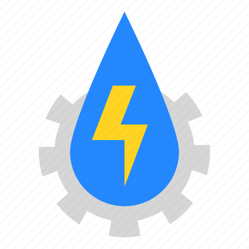ecology, electricity, energy, technology, water icon