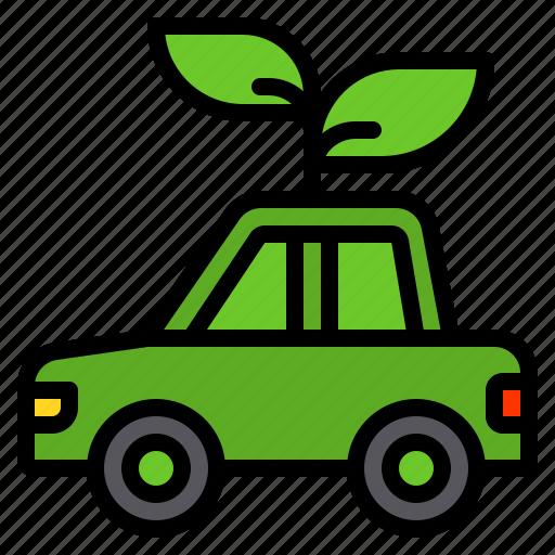 car, ecology, green, transportation icon