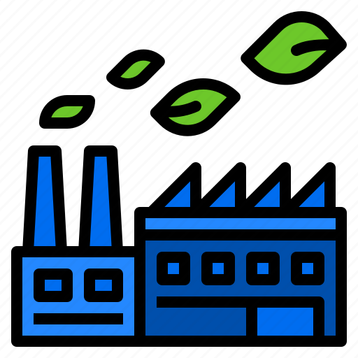 ecology, factory, green, industry, pollution icon