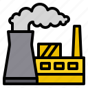 energy, factory, industry, nuclear, pollution icon