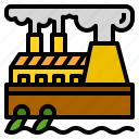 environment, factory, pollution, waste, water icon