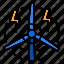 electricity, energy, renewable, turbine, wind icon