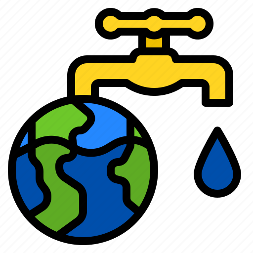 earth, ecology, faucet, save, water icon