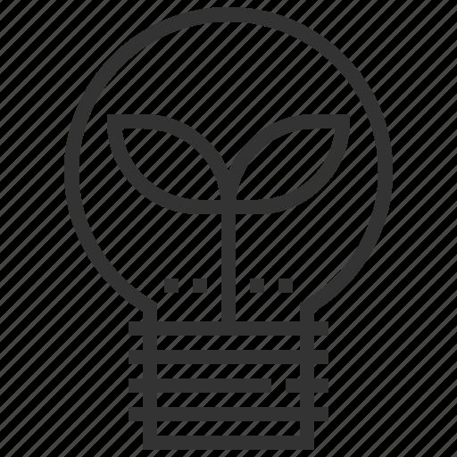 eco, ecology, energy, green, lightbumb, power, recycle icon