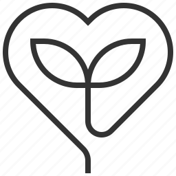 eco, ecology, green, heart, love, recycle icon