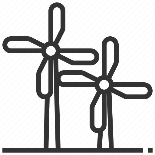 eco, ecology, recycle, turbine, wind icon