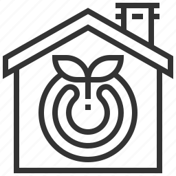 eco, ecology, house, recycle icon
