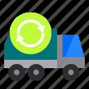 bin, car, recycle, truck, vehicle