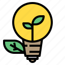 bulb, eco, ecology, energy, idea icon