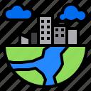 building, city, globe, nature, plant