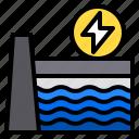 dam, ecology, electric, energy, nature icon