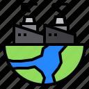 factory, globe, nature, plant, world