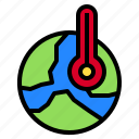 globe, nature, plant, thermometer, world