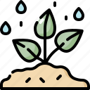 ecology, environment, nature, plant, rain, tree, water icon