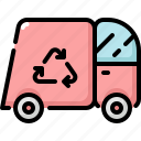 ecology, environment, nature, recycle, truck icon
