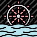 ecology, energy, environment, hydro, power, turbine, water icon