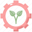 ecology, energy, environment, gear, nature, plant, power icon