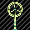 turbine, wind, windmil icon